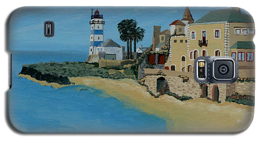 Lighthouse Galaxy S5 Case featuring the painting European Lighthouse by Anthony Dunphy