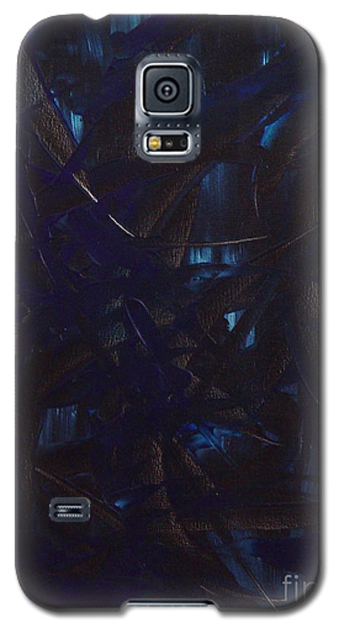 Abstract Galaxy S5 Case featuring the painting Expectations Blue by Dean Triolo