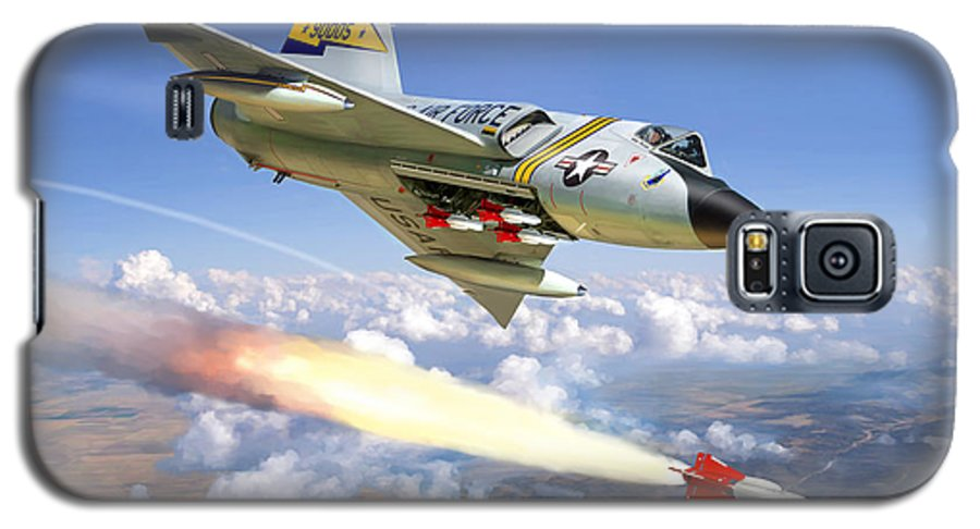 Aviation Galaxy S5 Case featuring the painting F-106 Delta Dart 5th Fis by Mark Karvon