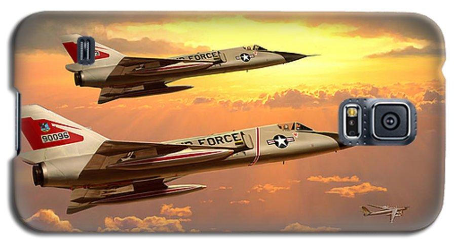 Aviation Galaxy S5 Case featuring the painting F-106 Delta Dart Intercept by Mark Karvon