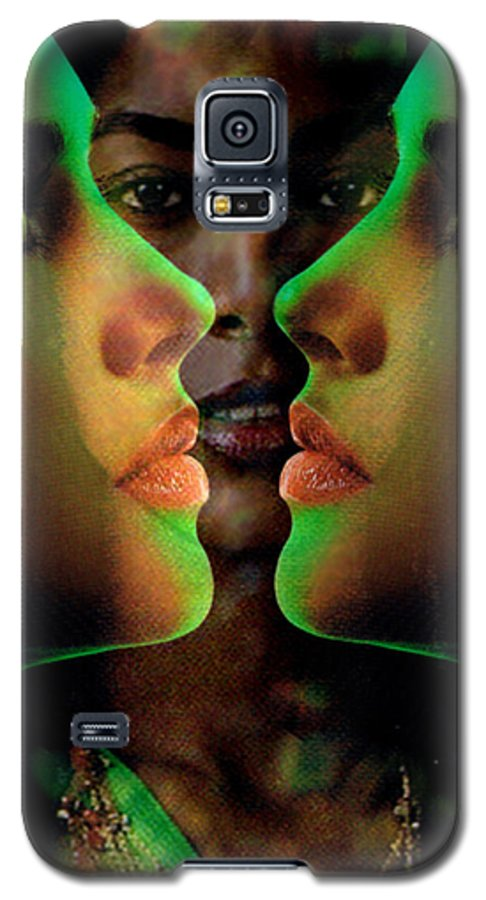 Women Galaxy S5 Case featuring the digital art Face 2 Face by Seth Weaver