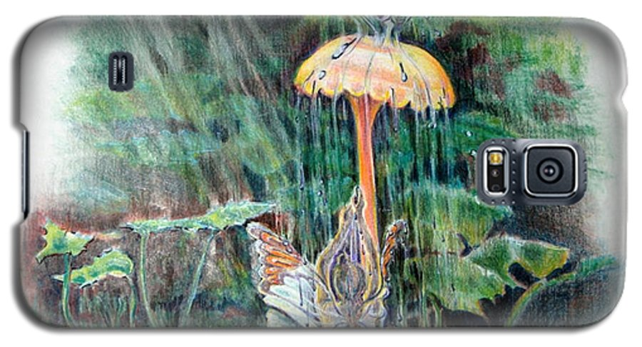 Fairy Galaxy S5 Case featuring the drawing Fairy Shower by Susan Moore