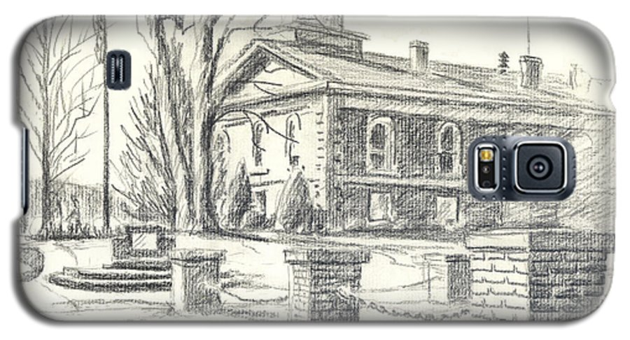 February Morning No Ctc102 Galaxy S5 Case featuring the drawing February Morning No Ctc102 by Kip DeVore