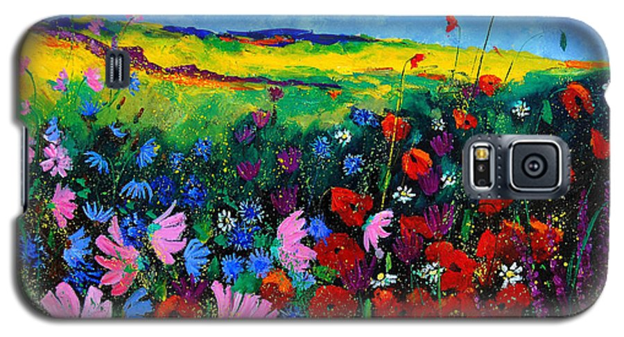 Poppies Galaxy S5 Case featuring the painting Field Flowers by Pol Ledent