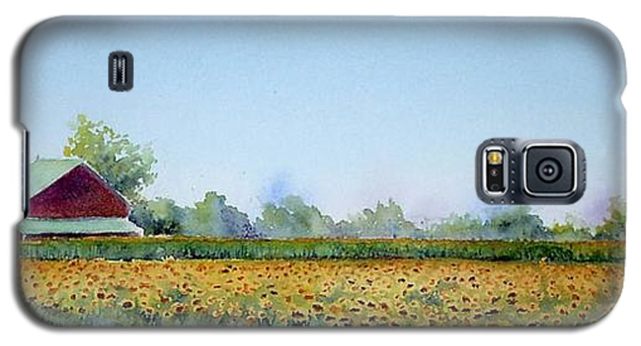 Landscape Galaxy S5 Case featuring the painting Field Of Sunshine by Patricia Henderson