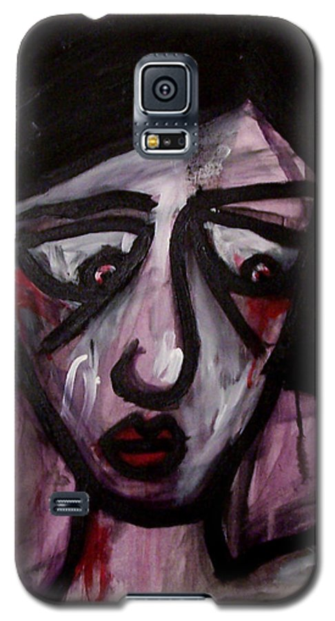 Portait Galaxy S5 Case featuring the painting Finals by Thomas Valentine