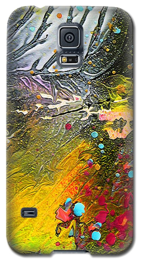 Miki Galaxy S5 Case featuring the painting First Light by Miki De Goodaboom