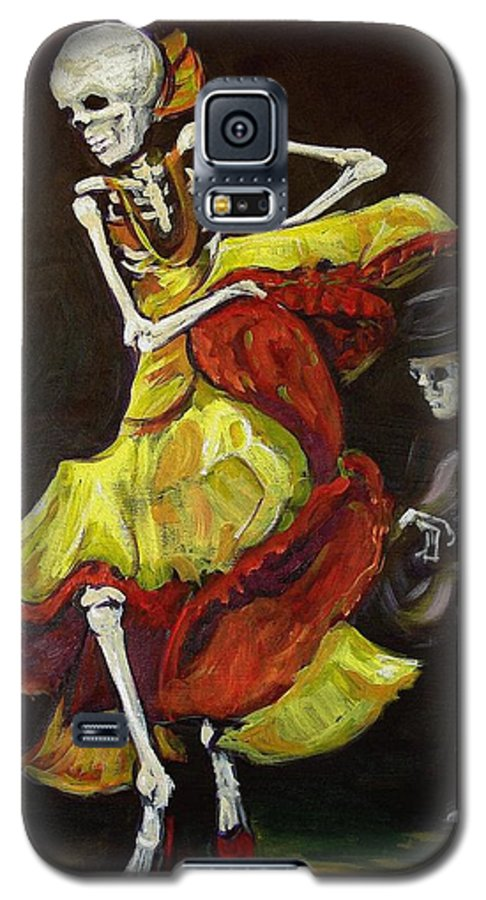 Muertos Galaxy S5 Case featuring the painting Flamenco Vi by Sharon Sieben