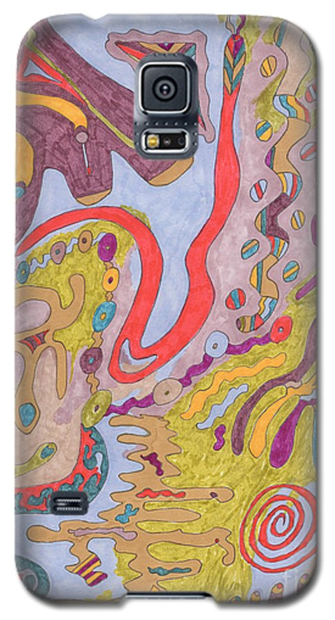 Butterfly Galaxy S5 Case featuring the drawing Flutterfly Land by Rebekah McLeod