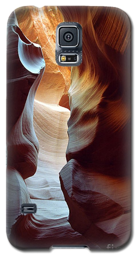 Slot Canyon Galaxy S5 Case featuring the photograph Follow The Light II by Kathy McClure