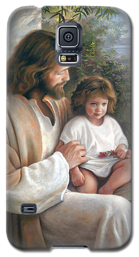 Jesus Galaxy S5 Case featuring the painting Forever And Ever by Greg Olsen