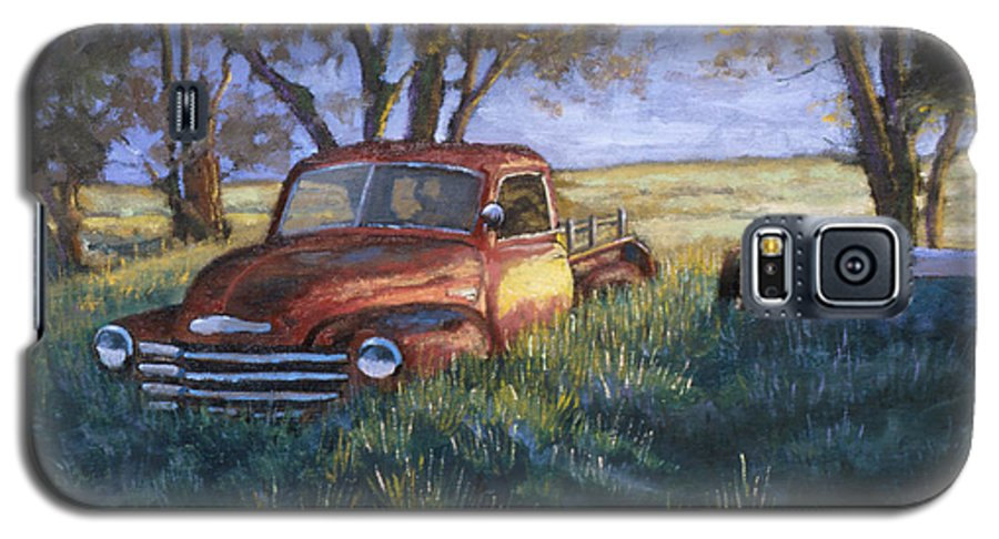 Pickup Truck Galaxy S5 Case featuring the painting Forgotten But Still Good by Jerry McElroy