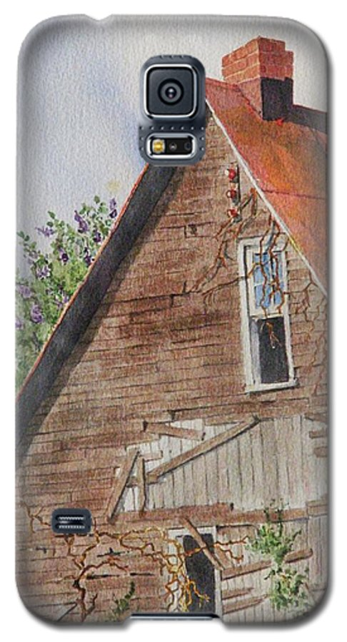Farm Galaxy S5 Case featuring the painting Forgotten Dreams Of Old by Mary Ellen Mueller Legault