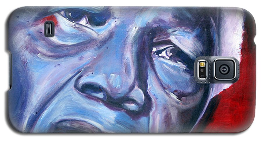 Nelso Mandela Galaxy S5 Case featuring the painting Freedom - Nelson Mandela by Fiona Jack