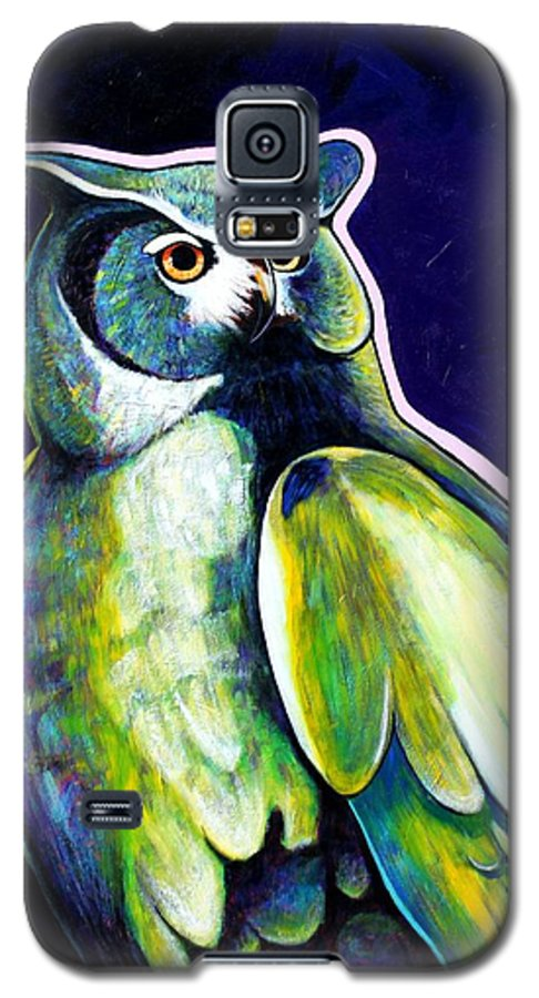 Owl Galaxy S5 Case featuring the painting From The Shadows by Joe Triano