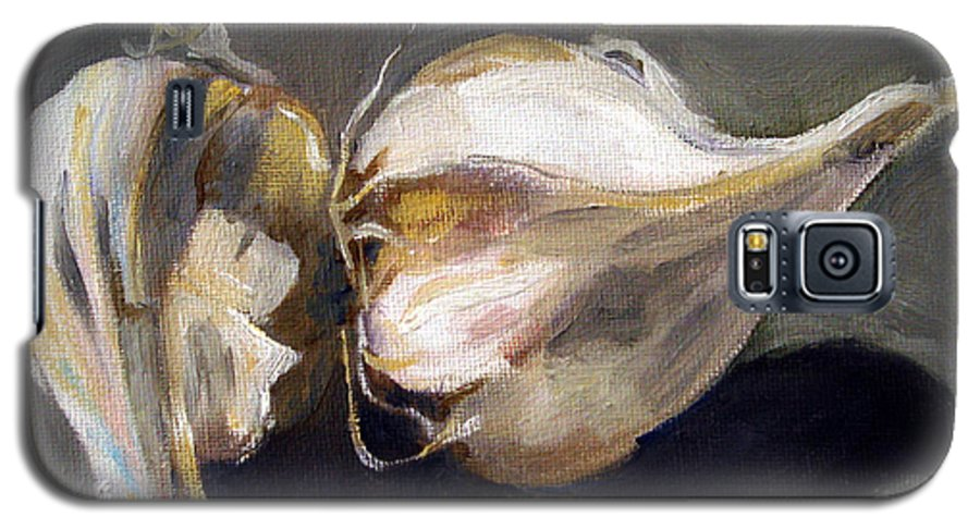 Still-life Galaxy S5 Case featuring the painting Garlic by Sarah Lynch