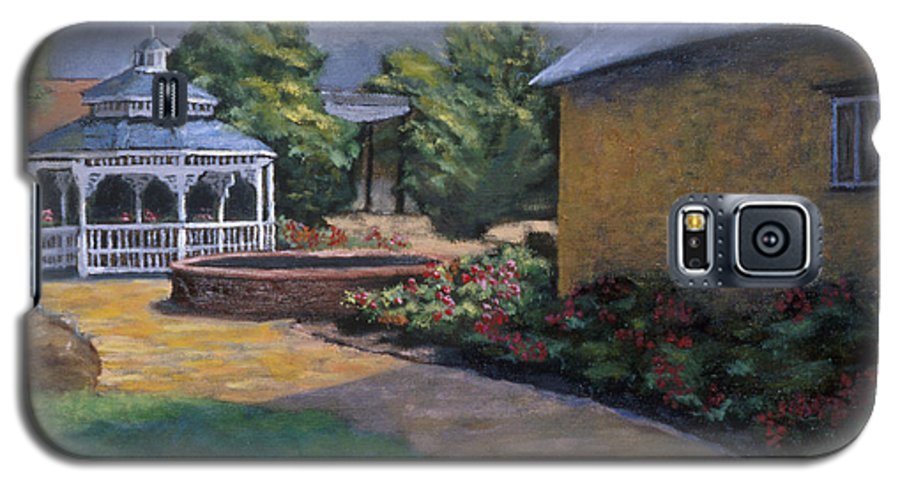 Potter Galaxy S5 Case featuring the painting Gazebo In Potter Nebraska by Jerry McElroy