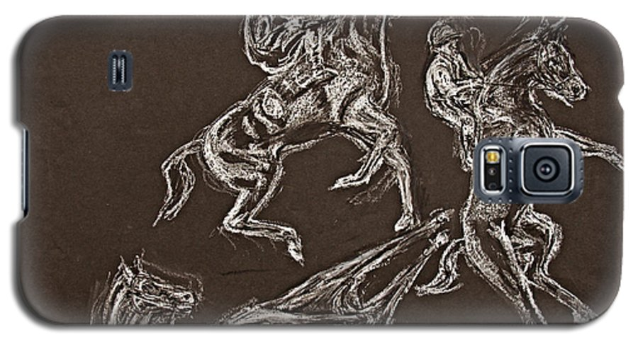 Rearing Horse Galaxy S5 Case featuring the drawing Ghost Riders In The Sky by Tom Conway