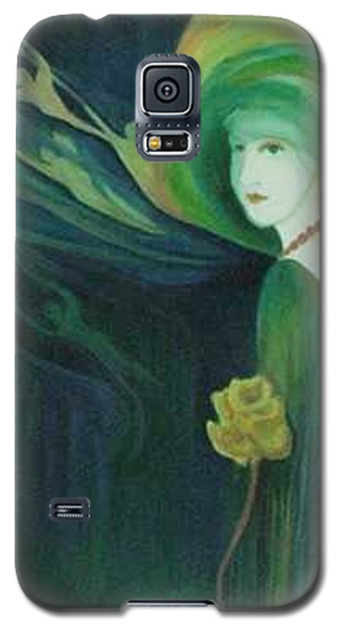 Women Galaxy S5 Case featuring the painting My Haunted Past by Carolyn LeGrand