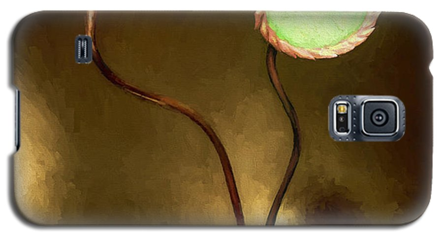 Fine Art Galaxy S5 Case featuring the painting Glass Flowers by David Wagner