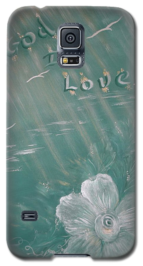 Christian Art Galaxy S5 Case featuring the painting God Is Love by Mary Grabill