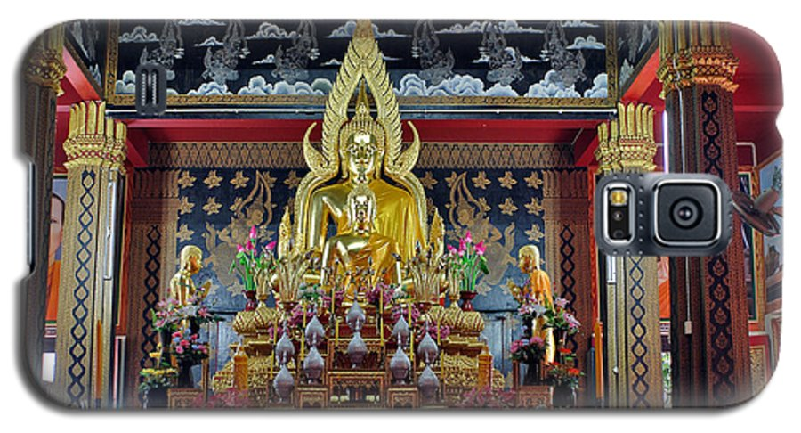 3scape Photos Galaxy S5 Case featuring the photograph Golden Buddha by Adam Romanowicz