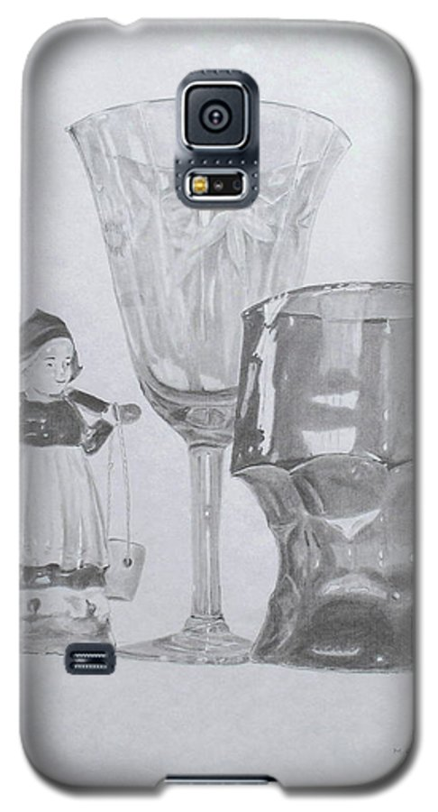 Glassware Galaxy S5 Case featuring the drawing Grammas Glasses by Mary Ellen Mueller Legault