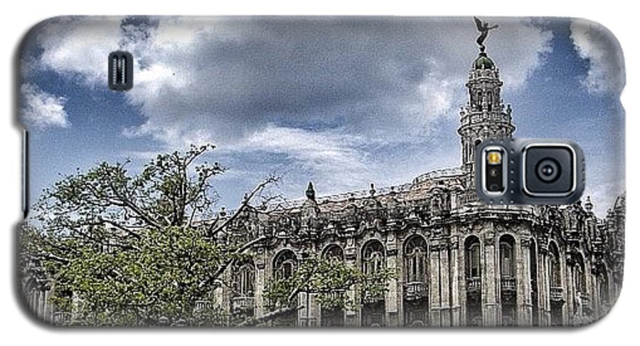 Cuba Galaxy S5 Case featuring the photograph great Theater Of Havana ( Built On by Joel Lopez