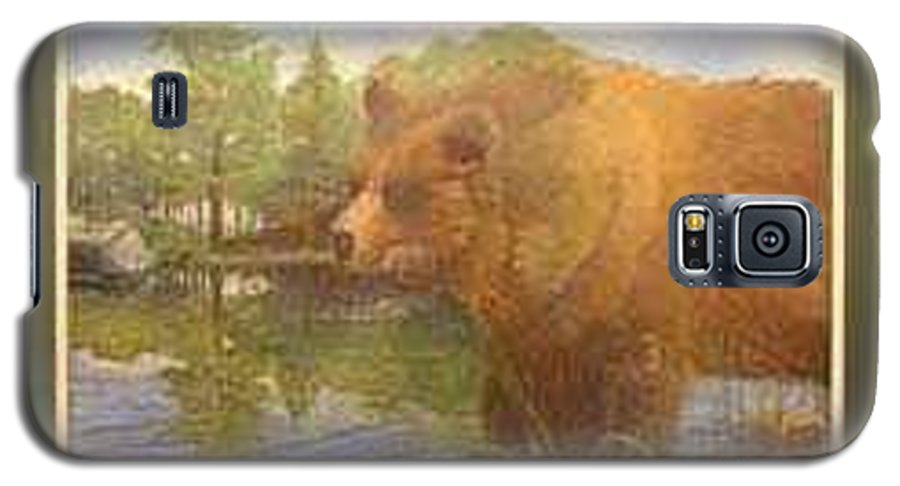 Rick Huotari Galaxy S5 Case featuring the painting Grizzly by Rick Huotari