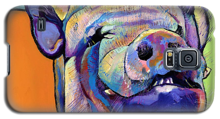 Pat Saunders-white Canvas Prints Galaxy S5 Case featuring the painting Grunt  by Pat Saunders-White