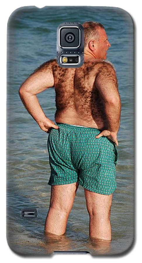 Man Galaxy S5 Case featuring the photograph Hairy Ocean by Rob Hans