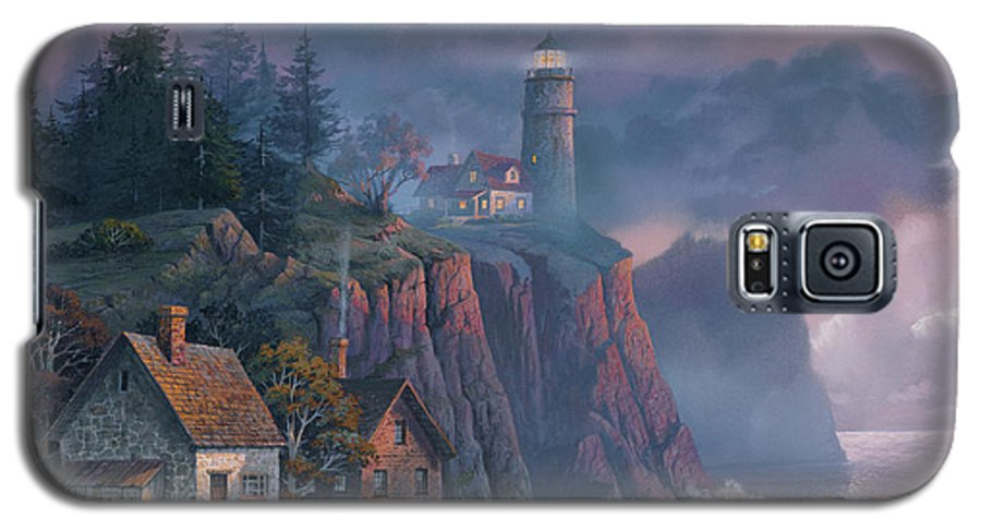 Michael Humphries Galaxy S5 Case featuring the painting Harbor Light Hideaway by Michael Humphries