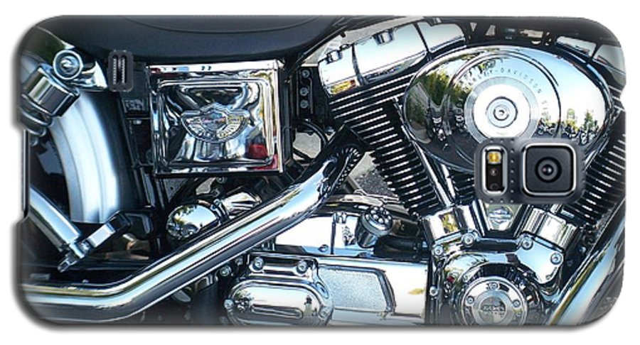 Motorcycles Galaxy S5 Case featuring the photograph Harley Black And Silver Sideview by Anita Burgermeister