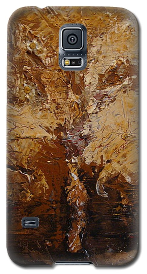 Tree Galaxy S5 Case featuring the painting Harvest by Holly Picano