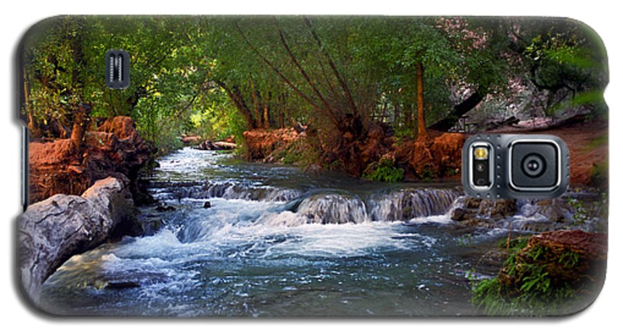 Arizona Galaxy S5 Case featuring the photograph Havasu Creek by Kathy McClure