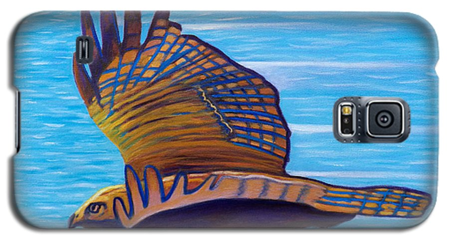 Hawk Galaxy S5 Case featuring the painting Hawk Speed by Brian Commerford