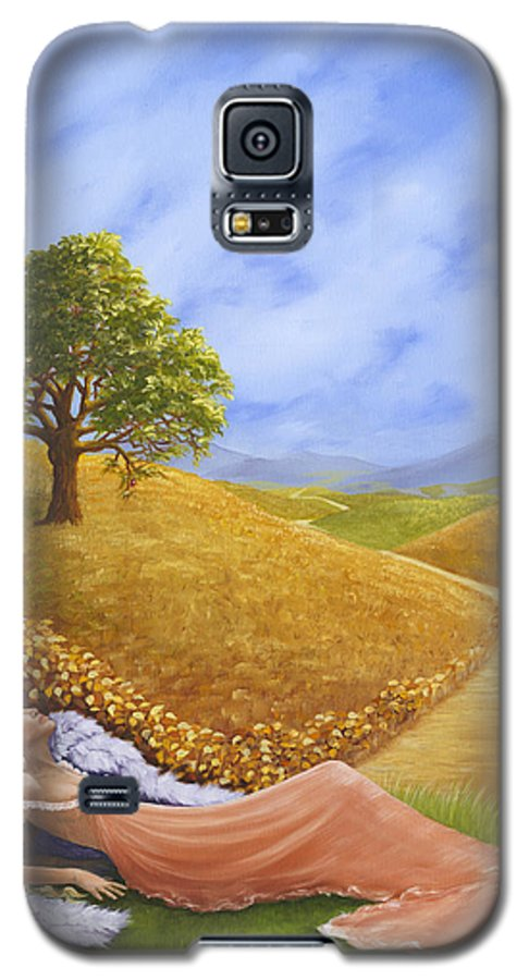 Angel Galaxy S5 Case featuring the painting Heaven On Earth by Brenda Ellis Sauro
