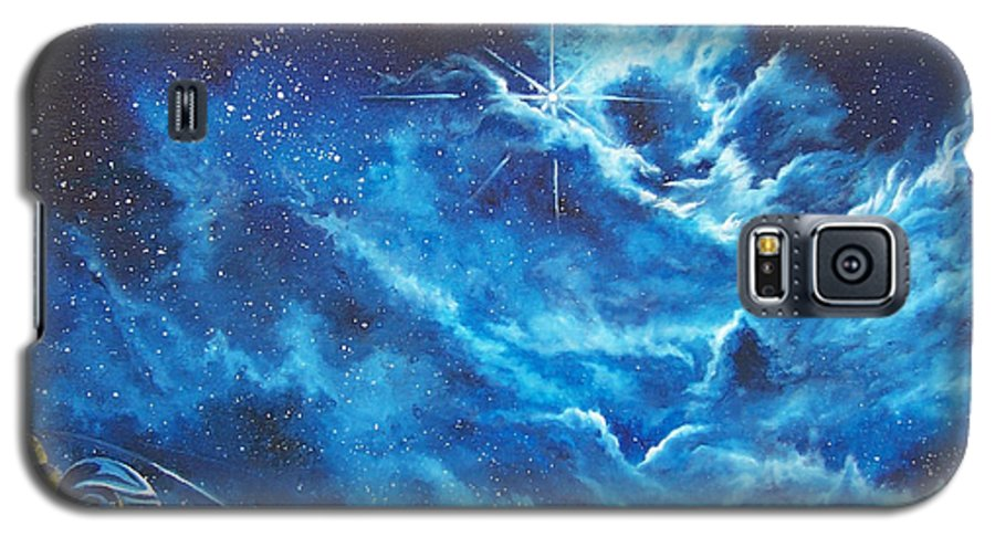 Astro Galaxy S5 Case featuring the painting Heavens Gate by Murphy Elliott