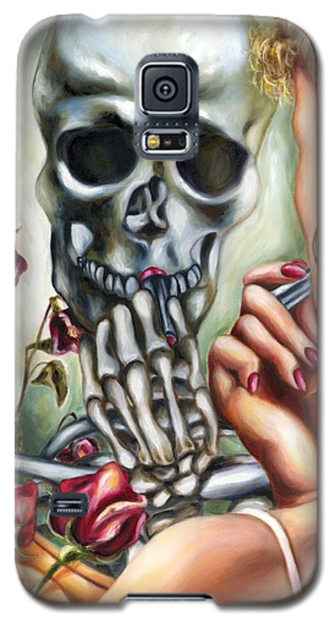Time Galaxy S5 Case featuring the painting Here Today Gone Tomorrow by Hiroko Sakai