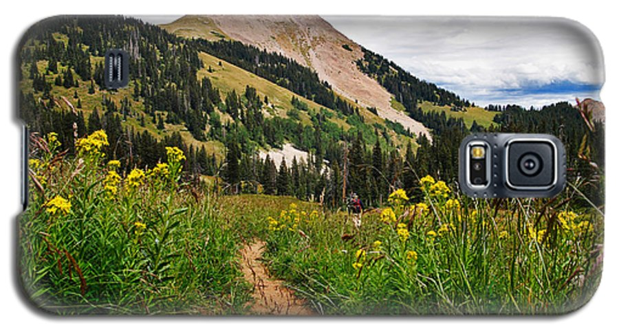 3scape Galaxy S5 Case featuring the photograph Hiking In La Sal by Adam Romanowicz