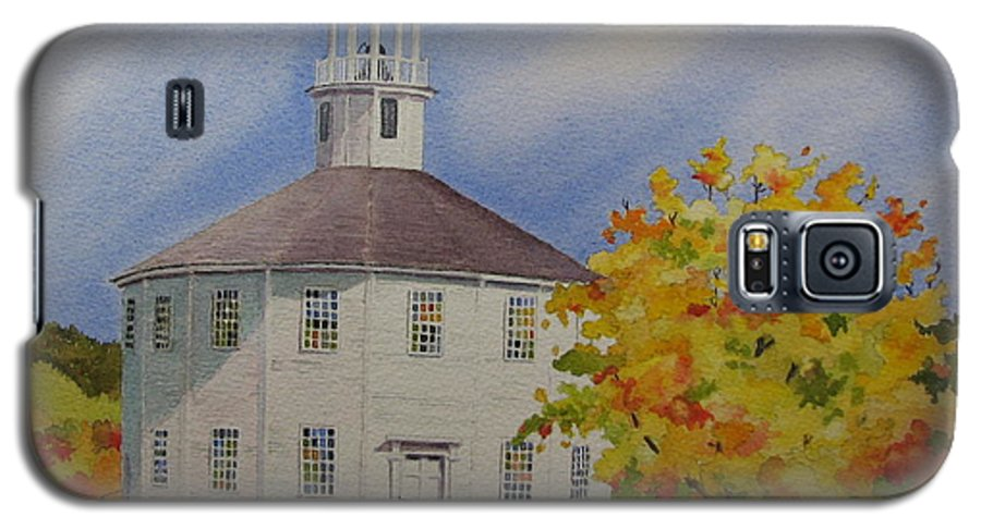 Richmond Galaxy S5 Case featuring the painting Historic Richmond Round Church by Mary Ellen Mueller Legault