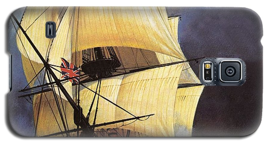 Hms Victory Galaxy S5 Case featuring the painting Hms Victory by Andrew Howat