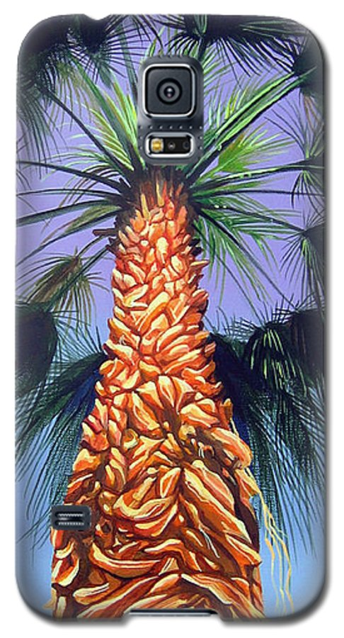 Palm Tree In Palm Springs California Galaxy S5 Case featuring the painting Holding Onto The Earth by Hunter Jay