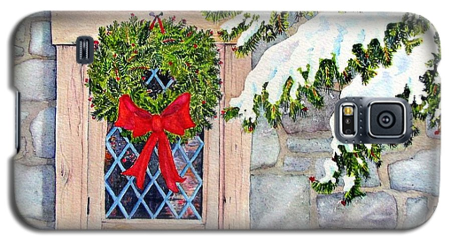 Holidays Galaxy S5 Case featuring the painting Home For The Holidays by Mary Ellen Mueller Legault
