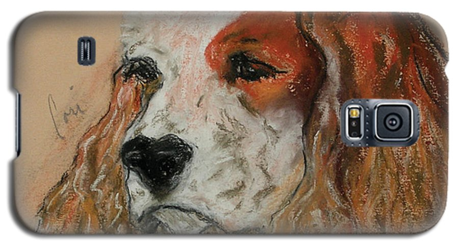 Dog Galaxy S5 Case featuring the pastel Idle Thoughts by Cori Solomon