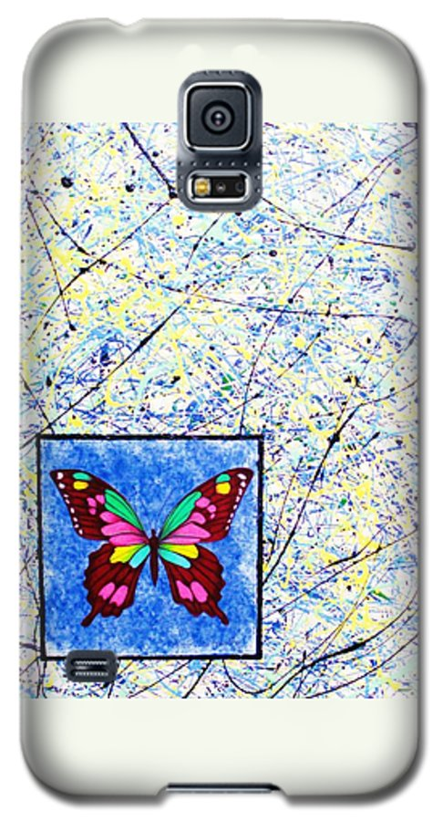 Abstract Galaxy S5 Case featuring the painting Imperfect I by Micah Guenther