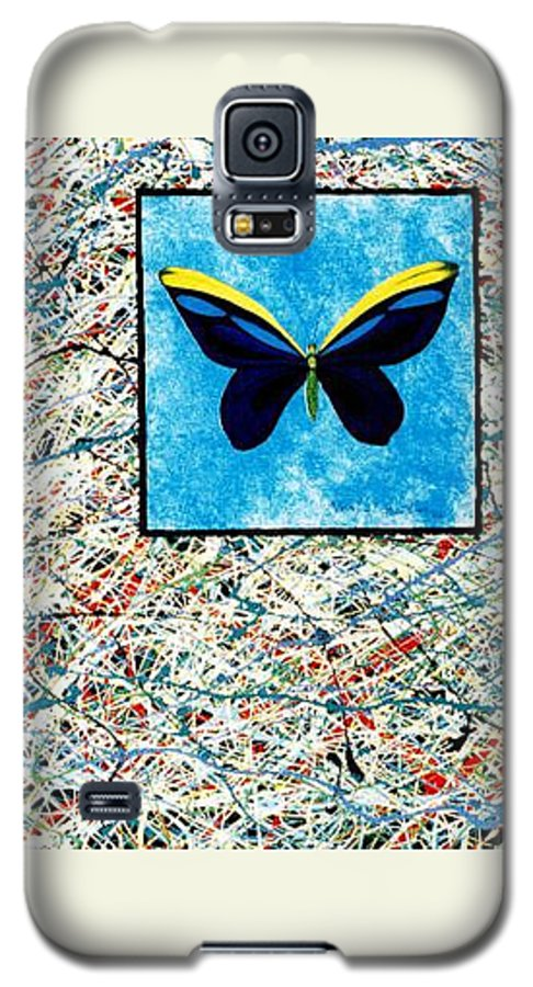 Abstract Galaxy S5 Case featuring the painting Imperfect II by Micah Guenther