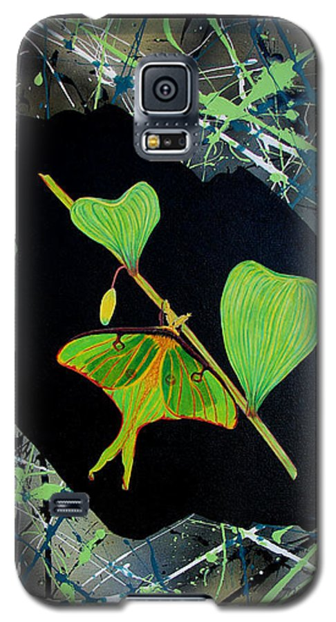 Abstract Galaxy S5 Case featuring the painting Imperfect IIi by Micah Guenther