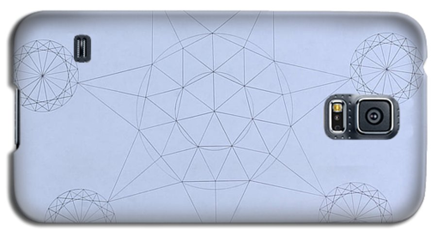 Jason Padgett Galaxy S5 Case featuring the drawing Impossible Parallels by Jason Padgett