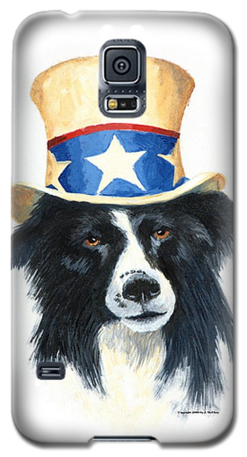 Dog Galaxy S5 Case featuring the painting In Dog We Trust by Jerry McElroy